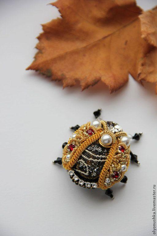 """Купить Брошь """"Oro Coccinella.Primavera in Italia"""" - винтажные украшения, итальянский стиль, брошь"""