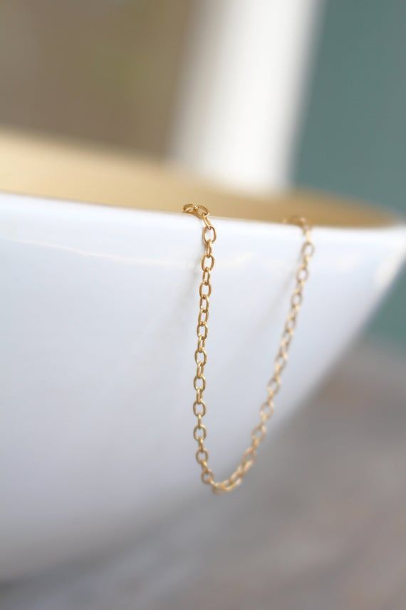 Custom Length 14k Gold Filled Cable Chain Necklace Any Etsy Gold Filled Chain 14k Gold Filled Gold Price