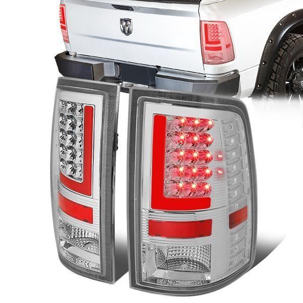 09-17 Dodge Ram 1500 2500 3500 Tail lights - Red LED L-Bar ... on