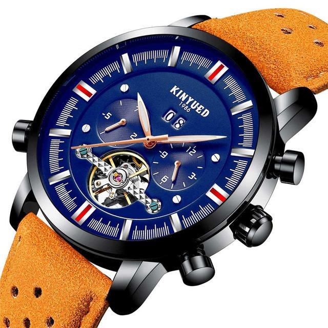 KINYUED JYD-J019 Blue Calendar Automatic Mechanica Watches at Banggood