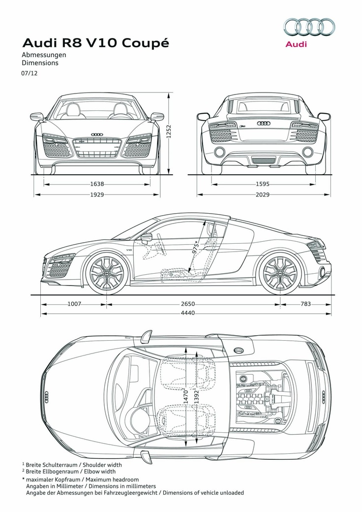 93 best Audi R8 images on Pinterest Cars, Cool cars and Dream cars - best of blueprint drawings of audi r8