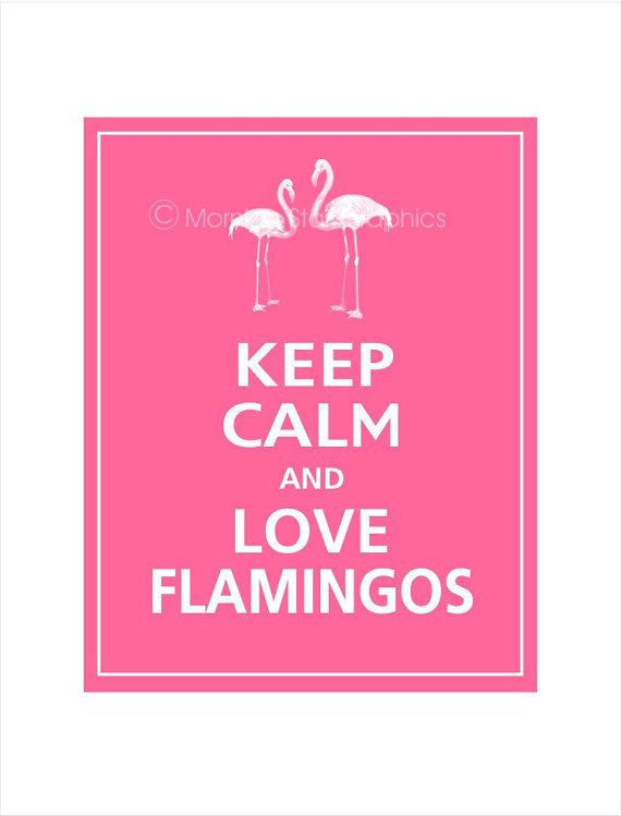 I NEED THIS.    Keep Calm and LOVE FLAMINGOS Print 8x10 Flamingo Pink by PosterPop, $9.95