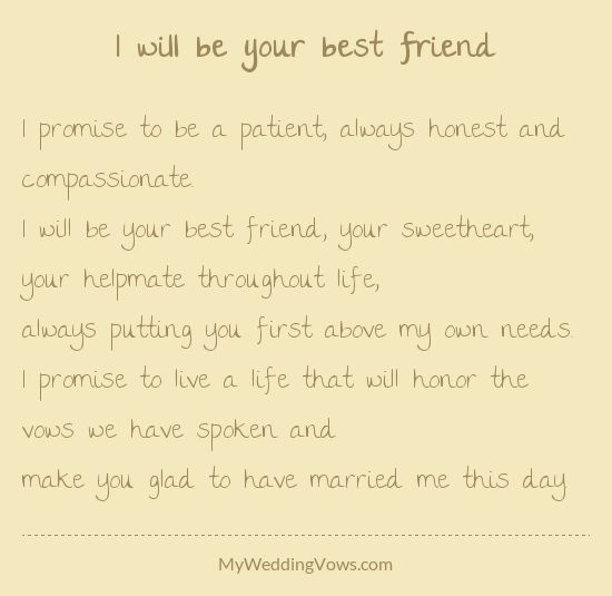 I Will Be Your Best Friend