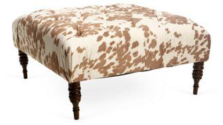Elliot Tufted Cocktail Ottoman, Camel