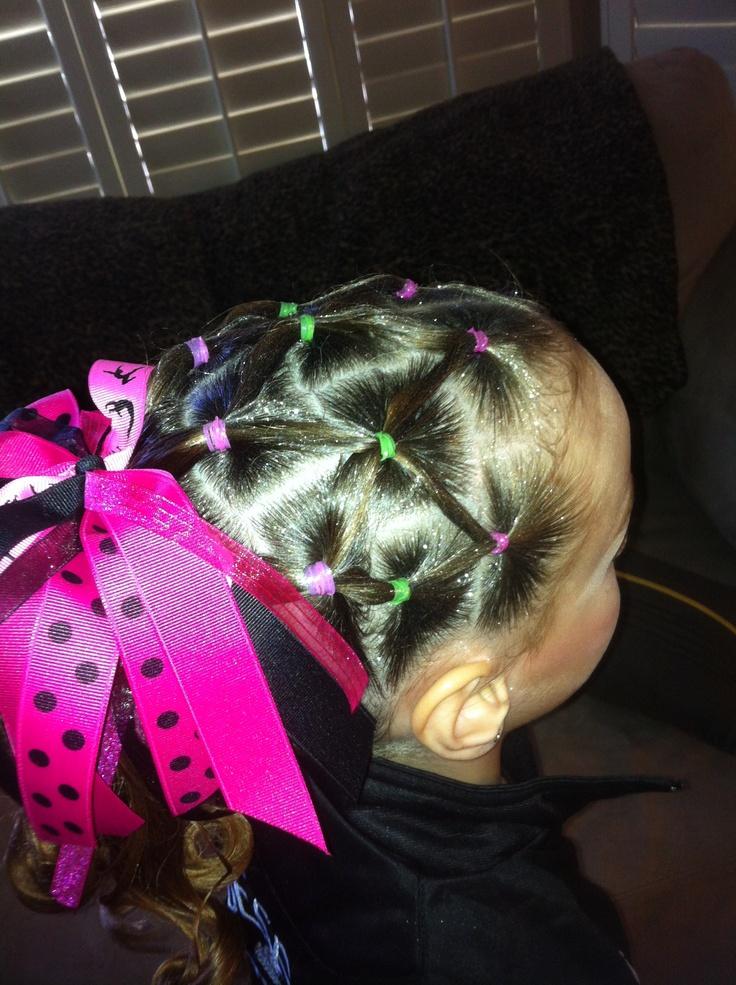 rd761 gymnastics meet hair