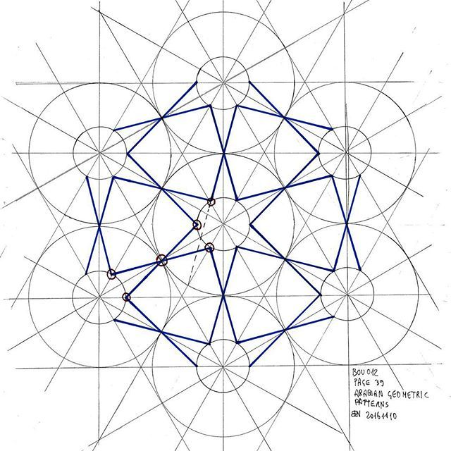 Bou012 #islamicdesign #islamicpattern #islamicart #arabiangeometry #mathart #regolo54 #star #structure #Escher #geometry #symmetry #handmade