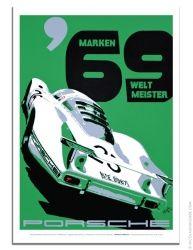 Porsche poster 1969 Marken Weltmeister Porsche 908LH