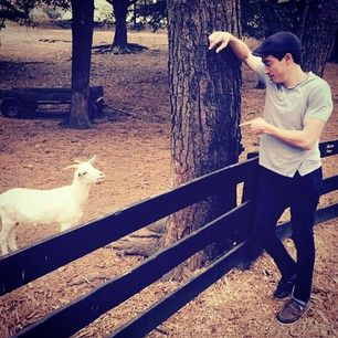 When he chilled with a cool goat:   21 Times Ben Feldman Could Get It