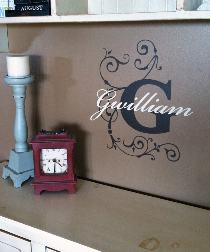 Cricut idea monogram wall decalsvinyl