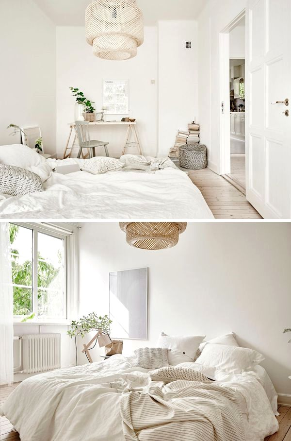 Cool white bedroom Wood #white #bedroom #bed #room #decor #ideas