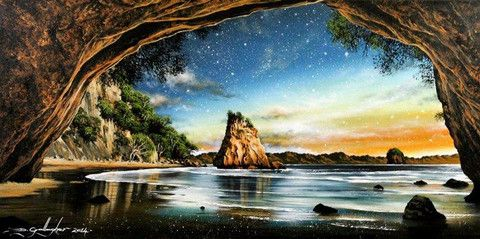 Cathedral Cove by Dale Gallagher - Central Art Gallery Queenstown
