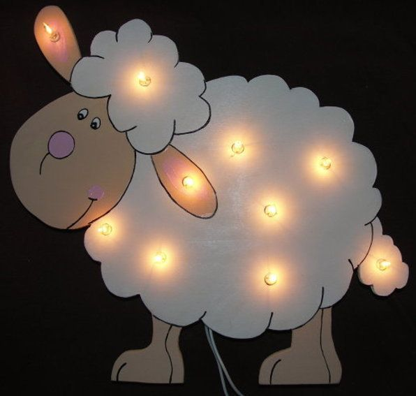 Schaf  als LED Wandlampe von VobisKinderladen  auf DaWanda.com