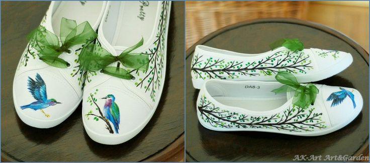 Ręcznie malowane tenisówki / Hand painted sneakers