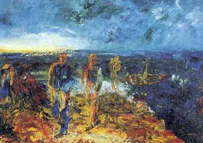 "John ""Jack"" Butler Yeats, the youngest son of John B. Yeats and brother of William B.Yeats was also an Irish artist and even won an Olympic medal for its artwork. His early style was the one of an illustrator, in 1906 he only began to work regularly in oils."