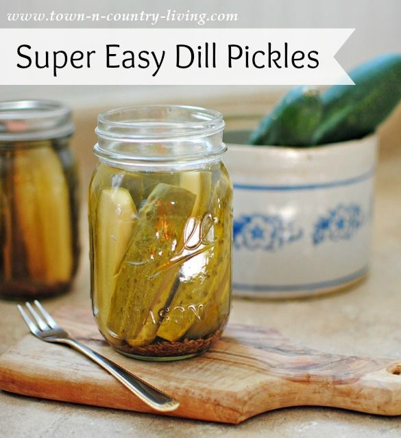 Super Easy Dill Pickles  3 pounds cucumbers 4 cups water 4 cups white vinegar 1/2 cup sugar 1/3 cup pickling salt 6 tablespoons dill seeds