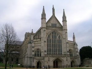 Winchester Cathedral where Jane Austen was laid to rest: Gothic Cathedrals, Gothic Styles, Favorit Place, London, Winchester Cathedrals, Anne Boleyn, Catedr De Winchester, Jane Austen, Cream