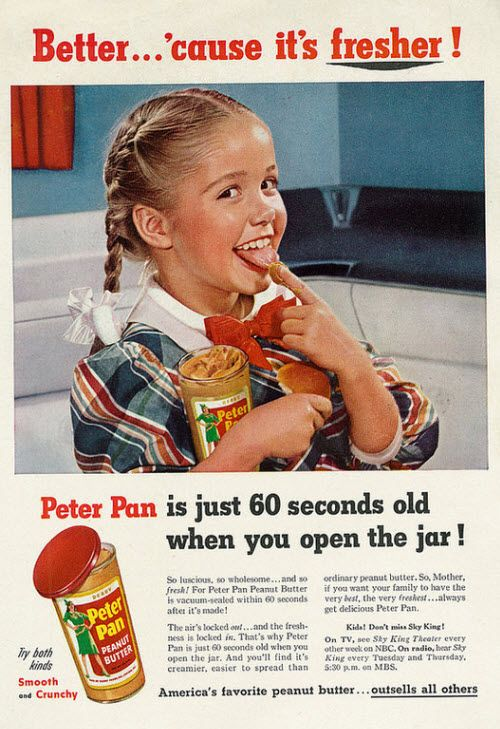 1980s peanut butter magazine ads | Vintage Peter Pan Peanut Butter Magazine Ad, Family Circle February ...