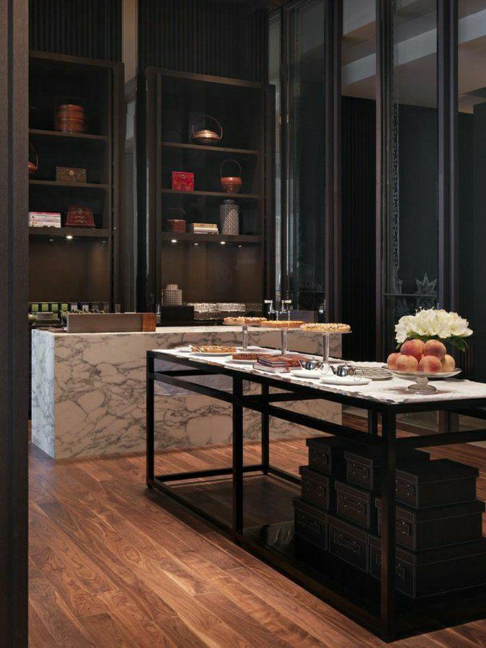 bar en marbre meuble marron fonc ide pour vos meubles cuisine moderne