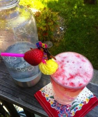 homemade strawberry soda!