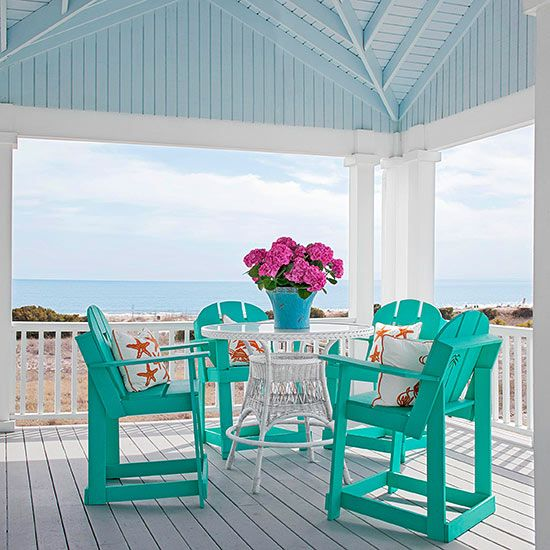 Love the bright colorful chairs