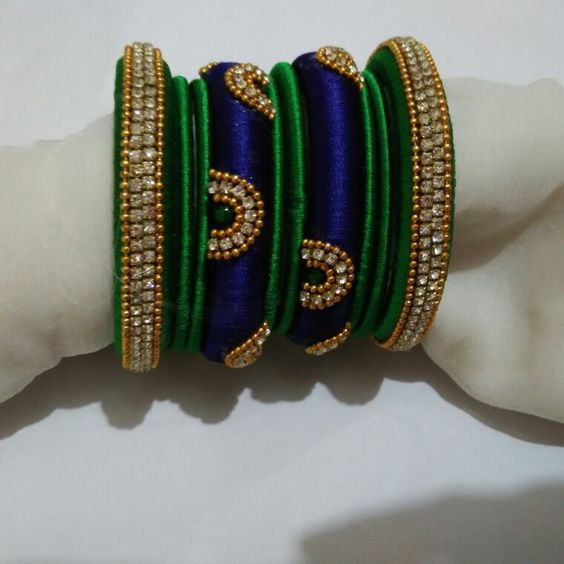 Shopzters | A Parade Of Kanjeevarams Combined With Silk Thread Bangles