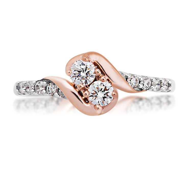 Product Name : 1/2CTTW 2BeLoved Diamond Ring in 10K White and Pink Gold - RE7665-A56 - 228993  Price : $ 849.80