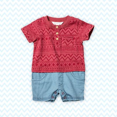 Pumpkin Patch Navajo Print Shortie - 100% cotton, available in sizes 0-3m to 24m http://www.pumpkinpatchkids.com/