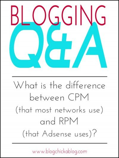 What is the difference between CPM (that most networks use) and RPM (that Adsense uses)? - Blog Chicka Blog