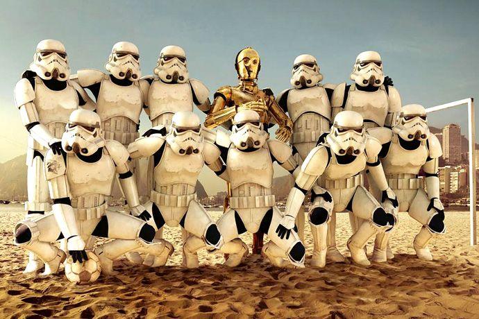 Star Wars, il calcio è questo....