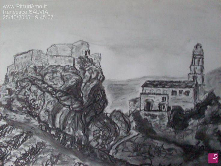 Laurenzana, il castello e la chiesa madre di Francesco L'artennista