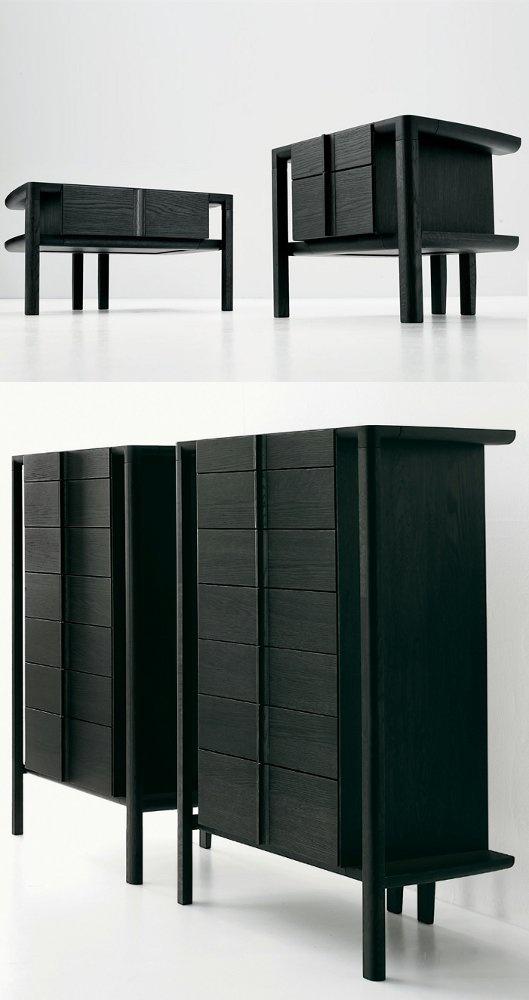 Wooden dresser COMODÀ by Eco & co | #design Alberto Collovati #wood #japanese