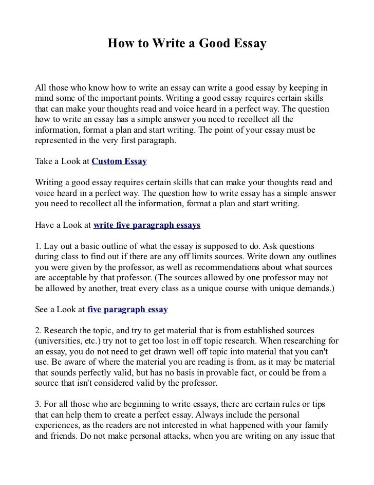 Good Essay Thesi Writing Best Way To Write A College