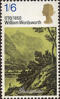 """Literary Stamps: Wordsworth, William (7 April 1770–23 April 1850), major English Romantic poet. Wordsworth was Britain's Poet Laureate from 1843 until his death in 1850. Grasmere is a village in the centre of the English Lake District. Wordsworth, who lived in Grasmere for 14 years, described it as """"the loveliest spot that man hath ever found."""""""