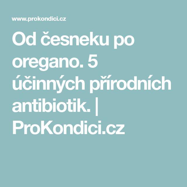 Od česneku po oregano. 5 účinných přírodních antibiotik. | ProKondici.cz
