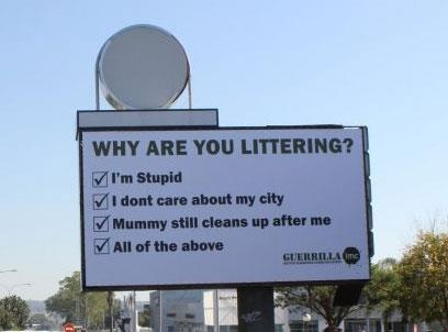 Billboard outside Cresta Shopping Centre in Johannesburg this September, was an initiative from Guerrilla IMC, and it wasn't long before their message went viral.