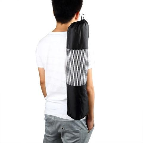 Yoga Bag Portable Yoga Mat Bag Nylon Carrier Mesh Black