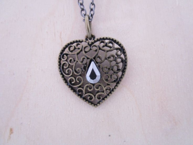 My Filigree Heart Necklace by NovemberSunset on Etsy