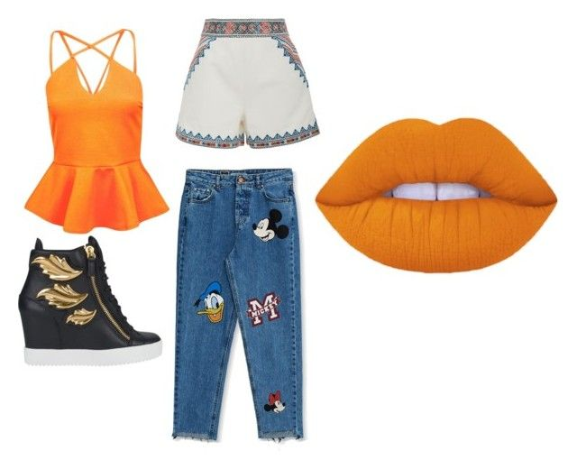 """""""Day out"""" by simranbasi12 on Polyvore featuring Boohoo, Pull&Bear, Giuseppe Zanotti, Talitha and Lime Crime"""