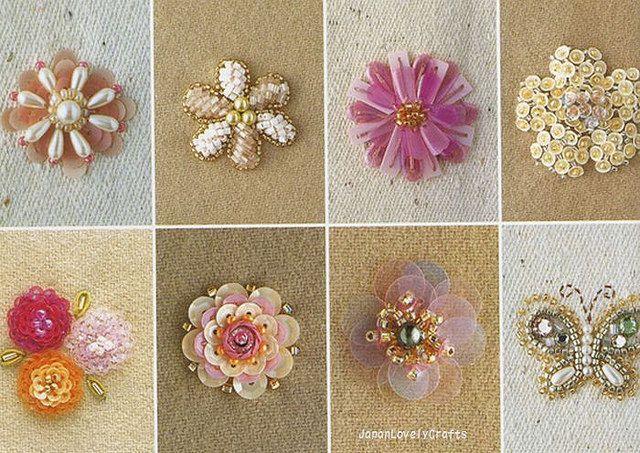 Haute Couture Beads Motif 100 - Japanese Bead Embroidery Stitch Pattern Book - Keiji Tagawa