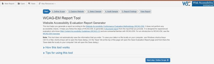WCAG-EM Report Tool Website Accessibility Evaluation Report - evaluation report