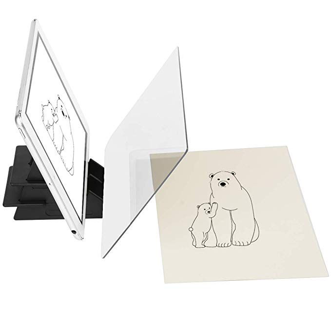 Optical Drawing Board Sketch Wizard Easy Tracing Drawing Sketching Tool Sketch Drawing Board Optical Picture Book Painting Artifact Sketching Painting Art Kit Painting Tracing Board for Kids
