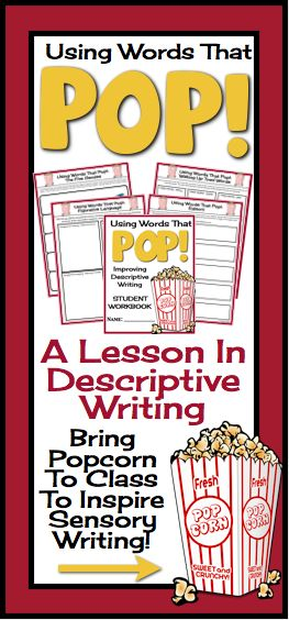 "The ""Using Words That Pop"" product includes everything you need to teach descriptive writing. All you need to do is print the booklets for your students, and follow the presentation!"