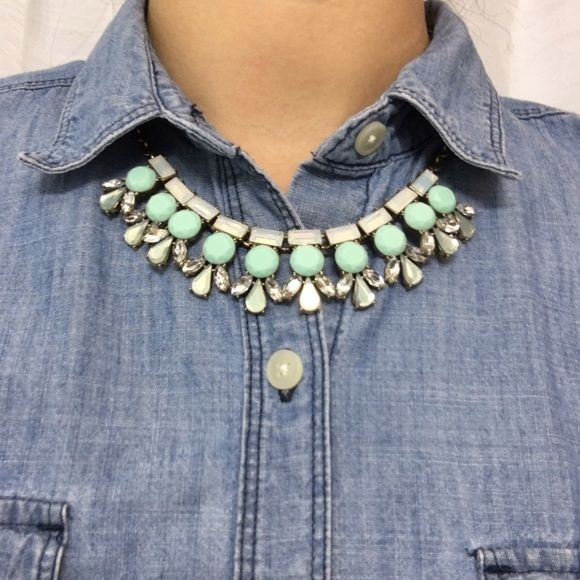 J Crew Necklace Sparkle with this J Crew Factory Necklace. This shade of blue is so trendy right now! Comes with J Crew dust bag. J. Crew Jewelry Necklaces