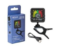 The new Beam Clip On Magnetic Rechargeable Chromatic Tuner & Metronome features double swivel joints for maximum adjustment and a magnetic detachable top allowing you to set it up like a metronome on a Music Stand or Table Top. The Beam is also rechargable so you dont have to worry about buying batteries.