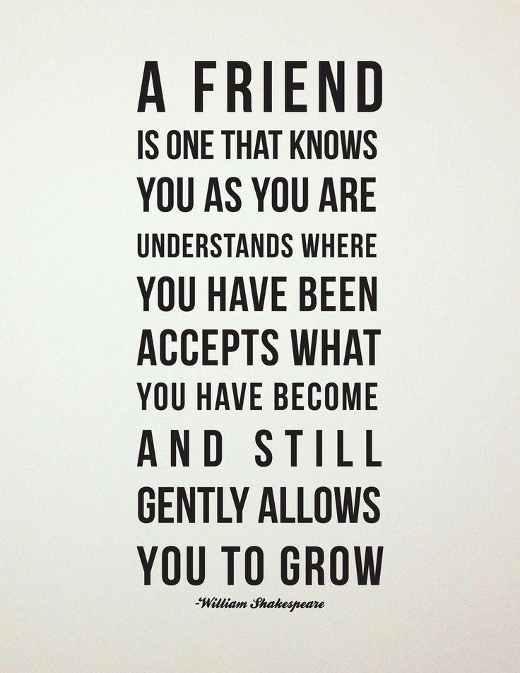 Shakespeare Friendship Quote // Best Friend Gift // Maid