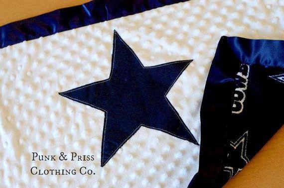 Dallas Cowboy Minky Blanket 18x20 Minky by PunkandPrissClothing, $25.00