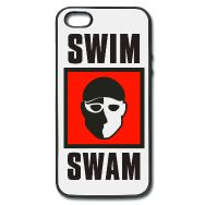 SwimSwam's iPhone 5/5s metal and rubber case by Joto. Carry SwimSwam with you wherever you go- only available at the SwimSwam Swag Store! ($12.99)