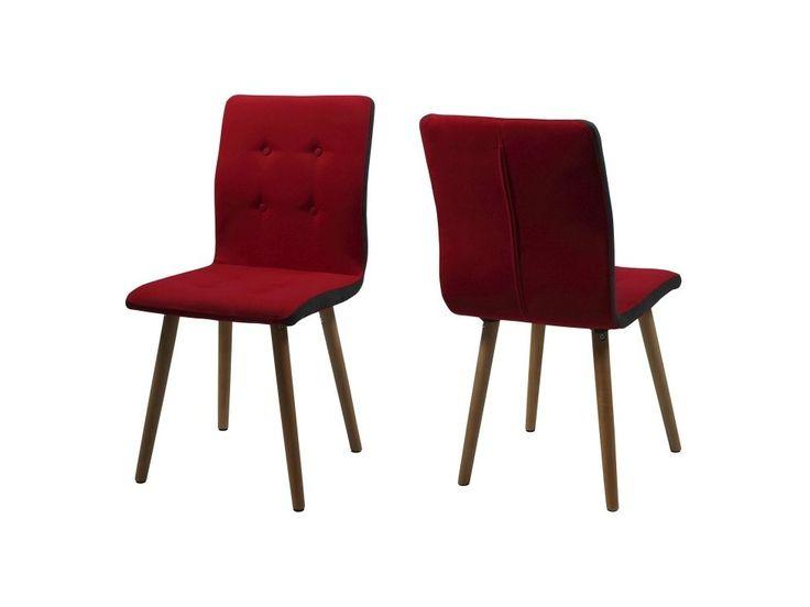 Krzesło Frida czerwona tkanina — Krzesła Actona — sfmeble.pl