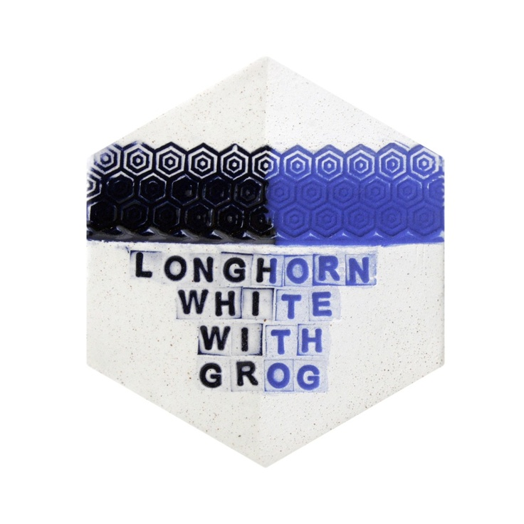 Clayworld - Armadillos Longhorn White with Grog, $25.50 (http://www.clayworld.com/armadillos-longhorn-white-with-grog/)