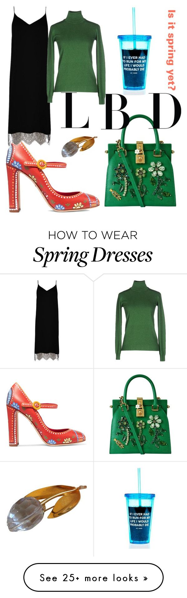 """Spring?"" by ralugoii on Polyvore featuring Dolce&Gabbana, River Island, Alpha Studio and Swarovski"
